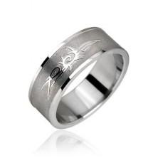 Sebészeti acélból készült gyűrű - törzsi szimbólum