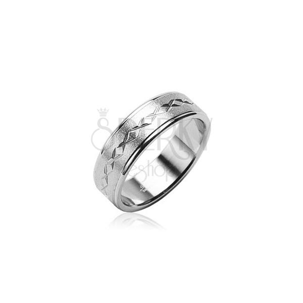 Sebészeti acélból készült gyűrű matt, csillag