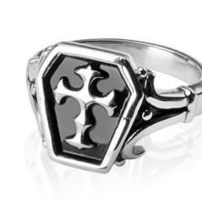 Sebészeti acélból készült gyűrű - keltai kereszt
