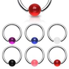 Piercing - karika, színes UV golyócska