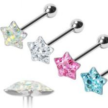 Nyelv piercing - Puffy Star