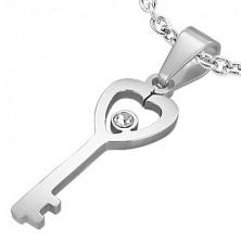 Acél medál - 'Kulcs a szívemhez'
