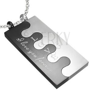 Nemesacél Puzzle medálok - fekete és ezüst kivitelezés