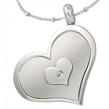 Sebészeti acél medál - három szív egyben