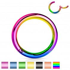 Orr- és fül piercing rozsdamentes acélból - egyszerű, fényes gyűrű, 0,8 mm, 6 mm