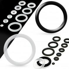 Tartalék szilikongyűrű a fültágítókhoz átlátszó színben