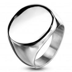 Rozsdamentes acél gyűrű, lapos fényes kör, ezüst színű