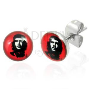 Acélból készült fülbevaló - Che Guevara, 7 mm