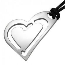 Orvosi fémből készült medál - ferde szív