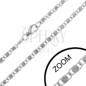 3 mm-es acél nyaklánc díszített szemekkel