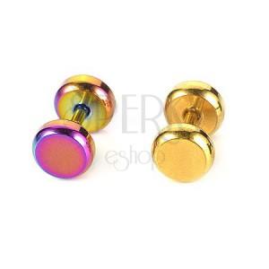 Fülporc piercing - tragus, acélból, két színben