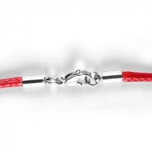 Piros pamut nyaklánc