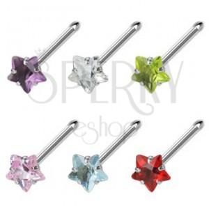 Orr piercing - színes csillag cirkónia