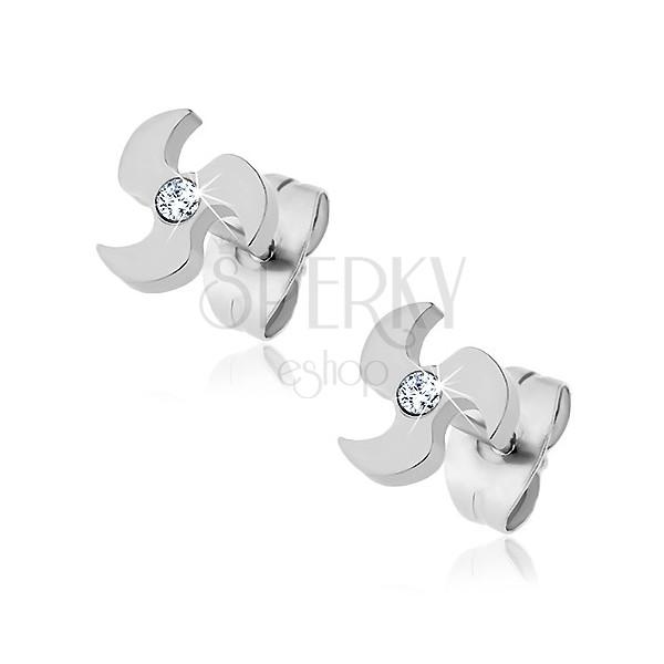Fülbevaló sebészeti acélból - propeller és cirkónia