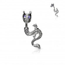 Tüzes sárkány köldökpiercing - cirkóniaszemek