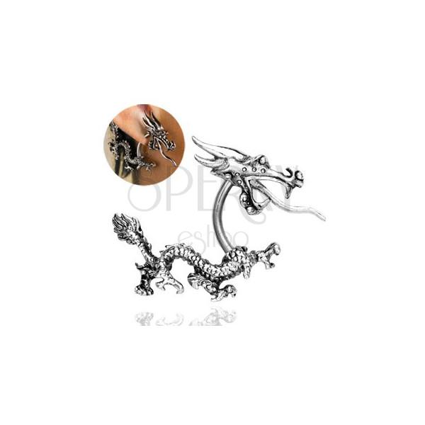 Fül piercing - tűzokádó kínai sárkány