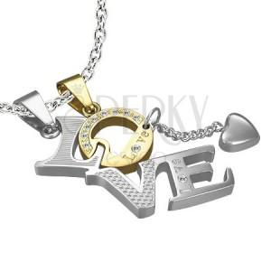 Medálok pároknak - LOVE, arany O betű
