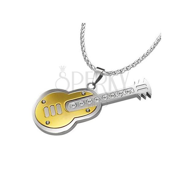 Acél medál - spanyol gitár, cirkóniák