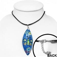 FIMO nyakék - kék ovális, pillangó