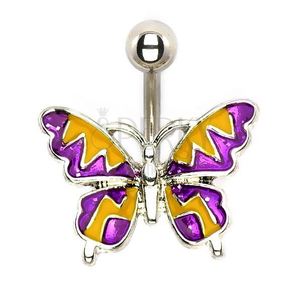 Acél piercing - nyári pillangó