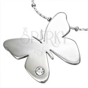 Medál sebészeti acélból - pillangó cirkóniával