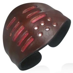 Karkötő bőrből - barna, formázható