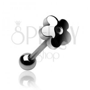 Nyelv piercing - virág alakú fejecske