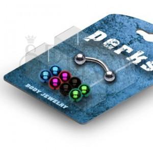 Golyós szemöldök piercing - készlet