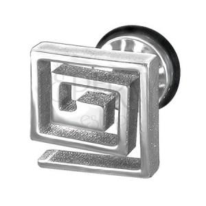 Hamis, acél plug - négyzetes spirál