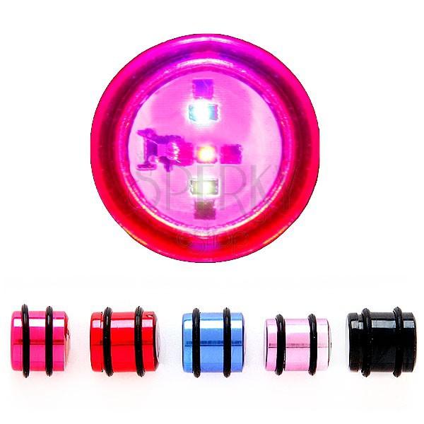 Villogó fültágító dugó - több színben és méretben