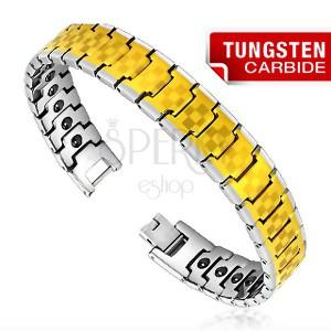 Tungsten karkötő - kétszínű, sakk tábla