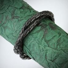 Dupla fonott bőr karkötő