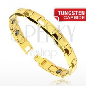 Tungsten karkötő - arany H láncszemek