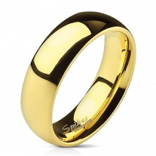 Acél jegygyűrű arany színben, 6 mm