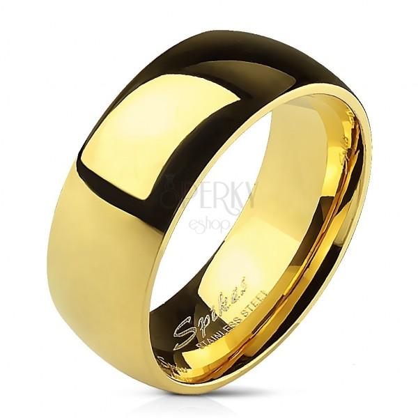 Acél jegygyűrű arany színben, 8 mm