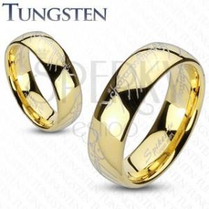 Tungsten gyűrű - arany, Gyűrűk Ura motívum