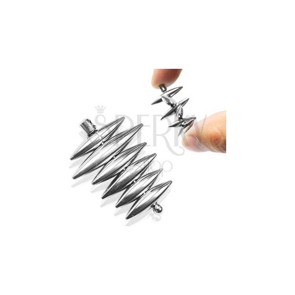 Minőségi acél medál - különféle forgatható ovális