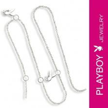 Lánc és Playboy nyuszi medál - állítható hossz