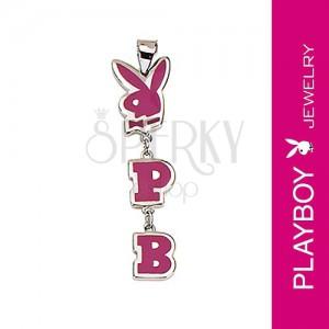 Playboy medál - nyuszi, P és B betűk, rózsaszín