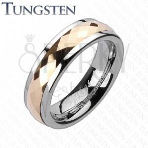 Tungsten gyűrű - forgatható középső sáv