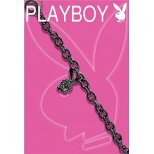Fekete Playboy karkötő - 3D Bunny fejecskével