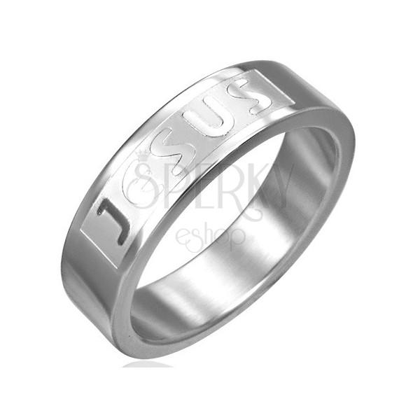 Sebészeti acél gyűrű - JESUS