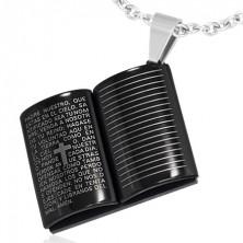 Fekete acél medál - Biblia