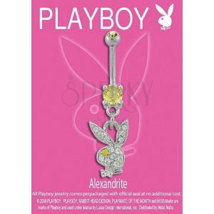 PLAYBOY belly ring június szülötteinek - Alexandrit