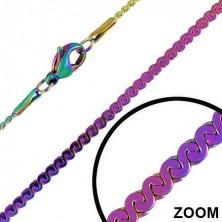 Anodizált szivárványszínű lánc - S láncszemek 1,8 mm