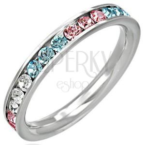 Gyűrű acélból - cirkóniák három színben