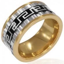 Méretes háromszínű acélgyűrű - három fordítható gyűrű