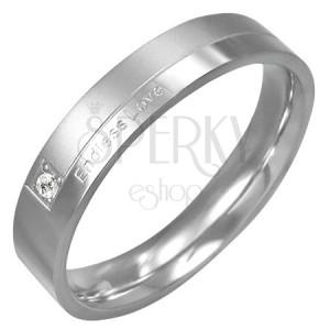 Eljegyzési gyűrű acélból - Endless Love, cirkónia