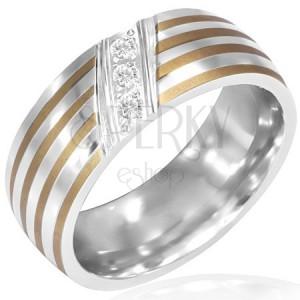 Csíkos acél gyűrű - átlós cirkóniasáv