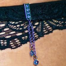 Fürdőruha ékszer - függő lánc cirkóniával